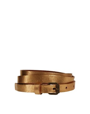 Image 1 ofPieces Bit Skinny Leather Belt