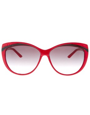Image 2 ofASOS Red Cat Eye Sunglasses
