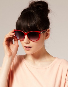 Image 3 ofASOS Red Cat Eye Sunglasses