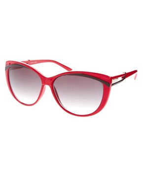 Image 1 ofASOS Red Cat Eye Sunglasses