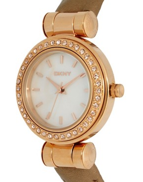 Image 4 ofDKNY Caramel Leather Strap Watch