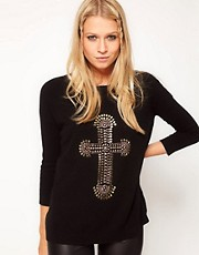 ASOS Cross Embellished Jumper