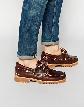 Timberland Timberland Classic Lug Boat Shoes (Brown)
