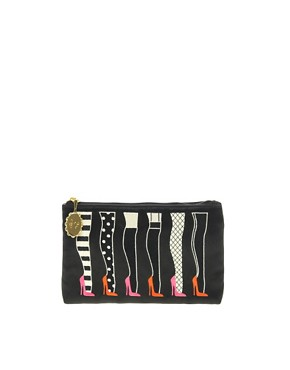 Image 1 ofLulu Guinness Legs Top Zip Pouch Bag