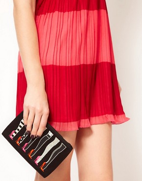 Image 3 ofLulu Guinness Legs Top Zip Pouch Bag