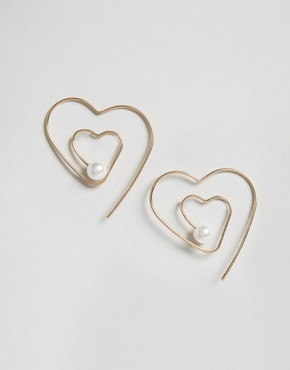 ASOS Heart Through Earrings
