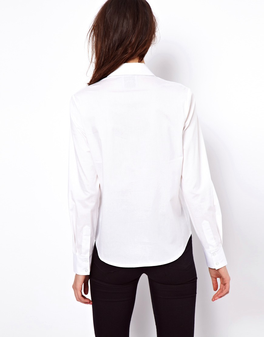 Image 2 of ASOS Shirt With Textured Panels