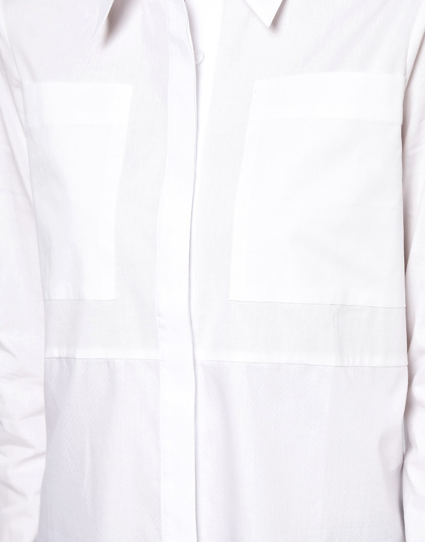 Image 3 of ASOS Shirt With Textured Panels