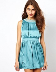 Jarlo Dress With Embellished Neckline