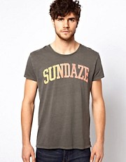 Scotch &amp; Soda T-Shirt With Sundaze Print