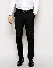 Pantalones de vestir de corte slim en negro de ASOS