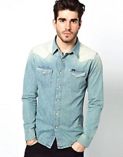 Lee Shirt Denim Western Shirt Slim Fit