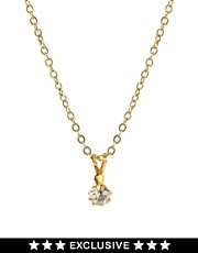Susan Caplan Exclusive For ASOS Vintage '80s Diamante Drop Necklace
