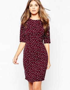 Poppy Lux Sharon Shift Dress In Leopard Print