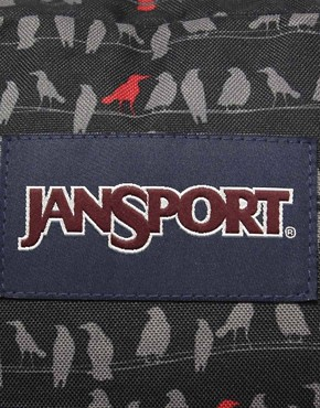 Image 4 ofJansport Superbreak Backpack with Bird Print