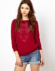River Island Laser Cut Sweatshirt