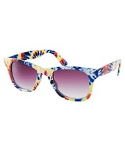 ASOS - Lunettes wayfarer avec imprim tie-dye