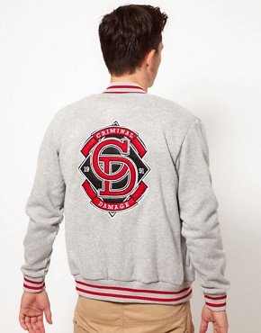 Image 2 ofCriminal Damage Jersey Varsity Jacket