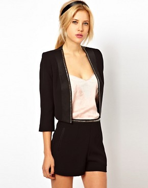 Image 2 of ASOS PETITE Exclusive Blazer With Studs