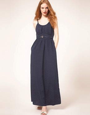Image 1 ofWhistles Stevie Triangle Spot Maxi Dress