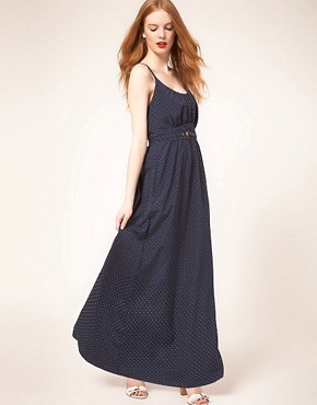 Image 4 ofWhistles Stevie Triangle Spot Maxi Dress