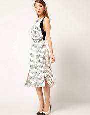 Vestido con estampado de cuadrcula Orson de Rachel Comey