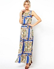 Oasis Scarf Print Maxi Dress