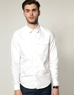 Image 1 ofLevis Oxford One Pocket Long Sleeve Shirt