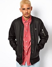Makia Jacket Flight Bomber Coated Linen