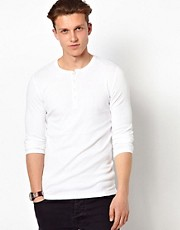 Top henley de manga larga de Esprit
