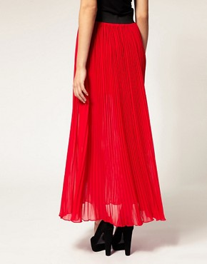 Image 2 ofWarehouse Pleated Maxi Skirt
