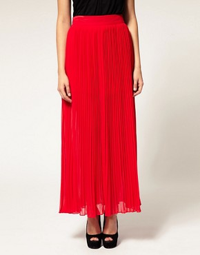 Image 4 ofWarehouse Pleated Maxi Skirt