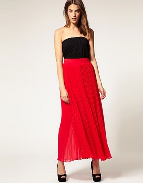 Image 1 ofWarehouse Pleated Maxi Skirt