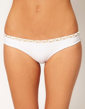 River Island Plait Trim Bikini Brief