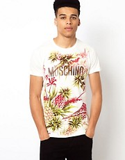 Love Moschino T-Shirt with Pineapple Print
