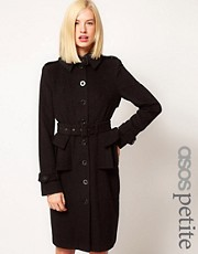 ASOS PETITE Heritage Longline Peplum Coat