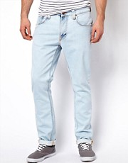 Nudie Jeans Tape Ted Skinny Fit Glacier Depot Wash