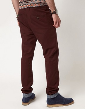 Image 2 ofASOS Slim Chinos With Turn Up