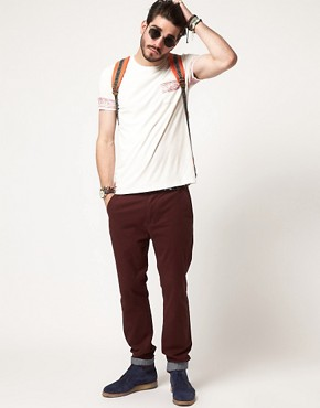 Image 4 ofASOS Slim Chinos With Turn Up