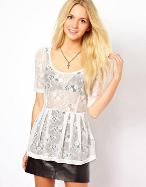 Image 1 ofOnly Sammy 3/4 Length Sleeved Lace Top