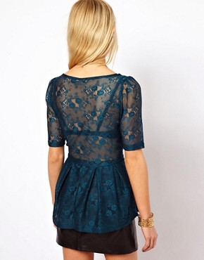Image 2 ofOnly Sammy 3/4 Length Sleeved Lace Top