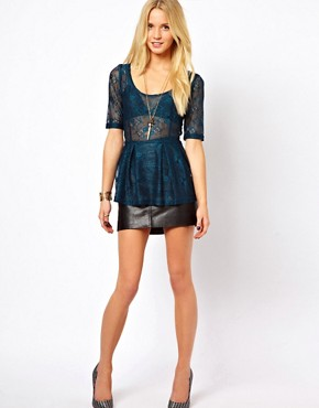 Image 4 ofOnly Sammy 3/4 Length Sleeved Lace Top