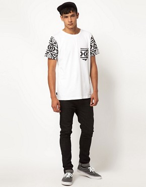 Image 4 of My Yard T-Shirt with Aztec Sleeves