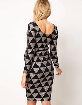 Image 2 ofASOS Maternity Bodycon Dress In Sparkle Print