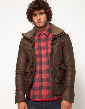 Image 1 of Superdry Tarpit Leather Jacket