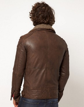 Image 2 ofSuperdry Tarpit Leather Jacket