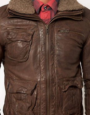 Image 3 ofSuperdry Tarpit Leather Jacket