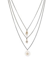 Orelia Arizona Long Three Row Necklace