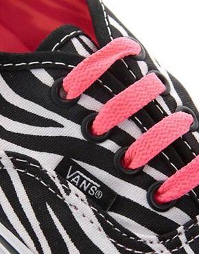 Image 2 ofVans Authentic Zebra Lace Up Trainers