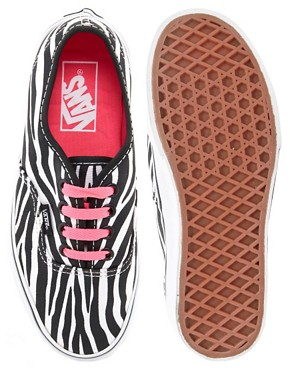 Image 3 ofVans Authentic Zebra Lace Up Trainers